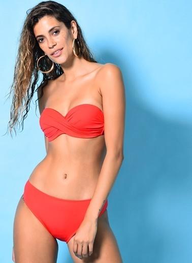Loves You Dönmeli Bikini Takım Kırmızı